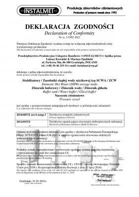 Declaration of confirmity 1992 - 2021